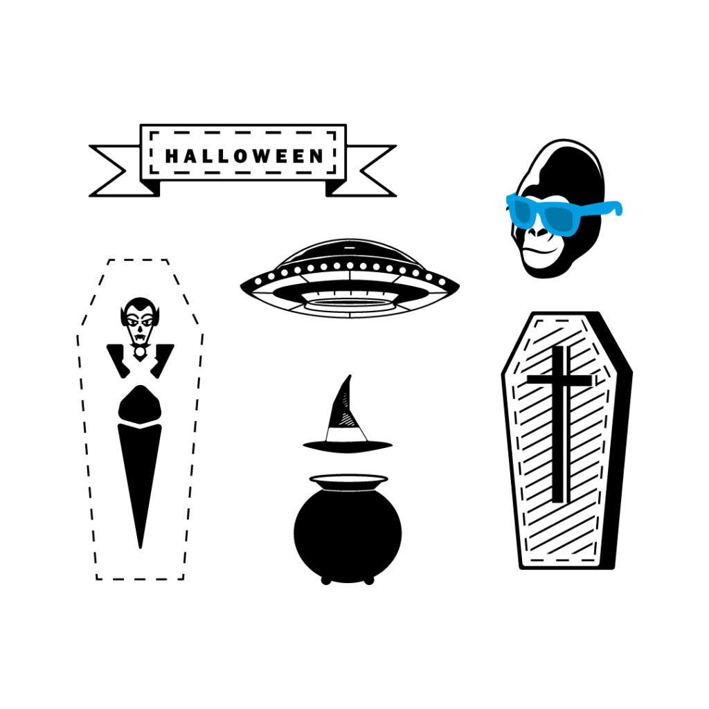 pegatina halloween